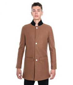 Bankers Trench Coat - Brown wool