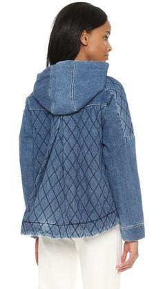 Sea Quilted Denim Jacket