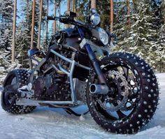 V-Max Snow Monster - burmeisters. Chopper Motorcycle, Moto Bike, Motorcycle Helmets, Motorcycle Humor, Custom Street Bikes, Custom Bikes, Custom Vans, Harley Bikes, Harley Davidson Motorcycles