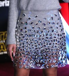 Actress/Recording Artist Zendaya (Zendaya Coleman), skirt detail, attends the Premiere of Walt Disney Pictures and Lucasfilm's 'Star Wars: The Force Awakens' on December 2015 in Hollywood, California. (Photo by Barry King/WireImage) Couture Fashion, Diy Fashion, Ideias Fashion, Fashion Dresses, Fashion Looks, Womens Fashion, Fashion Design, Looks Style, My Style