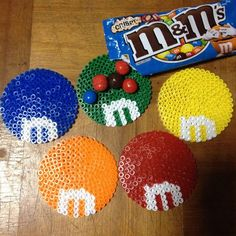M&M coasters perler beads by achiya928