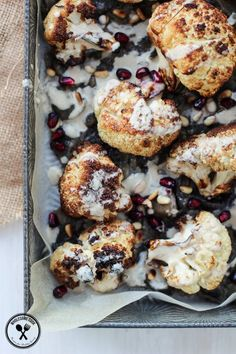 Grilled Cauliflower with Chilli Jam and Tahini Sauce