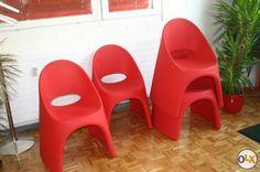 Amelie Stühle in rot neuwertig | Aargau | OLX.ch | 2623206 design Italo Pertichini SLIDE