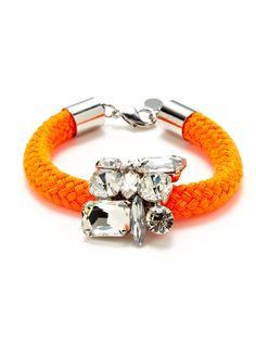 Neon Cord & Multi-Shape  Crystal Bracelet by Noir Jewelry on Gilt.com
