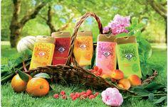 Gel douche Cueillettes fruitées. Rappelle la nature et les fruits. Impression d'ingrédients naturels qui poussent grâce au soleil de la Méditerranée.