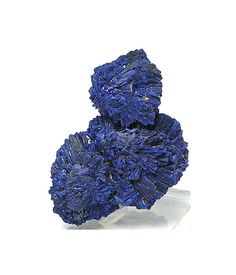 Indigo Blue Azurite Mineral Specimen Crystal by FenderMinerals,