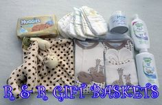 Uploaded image GIRAFFE BASKET FULL CONTENTS 1.JPG