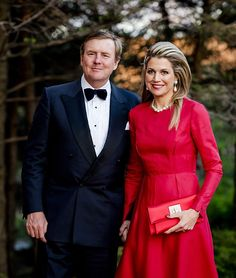 King Willem-Alexander and Queen Maxima of the Netherlands attend a reception at Canada's Governor-General's residence May 29, 2015