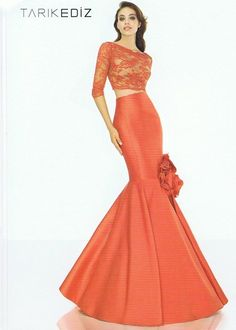 An elegant evening gown design  by Tarik Ediz