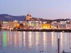 Ville de Genève vue de la Baie