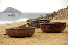 Vietnamese fishing baskets