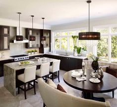 Modern kitchen with great seating