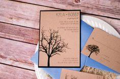 Tree Wedding Invitation - Fall Wedding Invite - Rustic ...