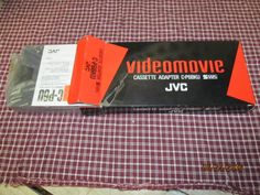 Vintage JVC Videomovie Cassette Adapter C-P6BKU with Instructions Mint in original box by EvenTheKitchenSinkOH on Etsy