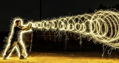 Long Exposure Pictures with Sparklers