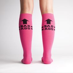 We thought since everyone loved our Badass sock so much, that we'd make it in another color! Hot Pink is perfect for the roller derby track or just to let people know how awesome you are.
