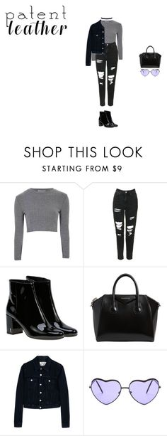 """""""in my way"""" by xoxotiffvni on Polyvore featuring Glamorous, Topshop, Yves Saint Laurent, Givenchy, Acne Studios, Humble Chic and patentleather"""