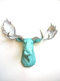 Faux Taxidermy Moose Head Wall Hanging Max the by mahzerandvee, $92.00