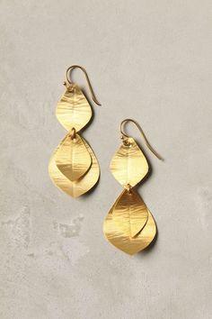 Delicate Gold Earrings.