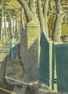 Tiny Particles of Larger Loves. The village Medium, Simon Palmer. English, born in 1956 Landscape Art, Landscape Paintings, Abstract Paintings, Abstract Art, Art Uk, Figure Painting, Tempera, Art Photography, Illustration Art