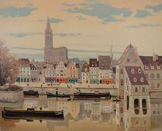 "Michel Delacroix "" La Cathedrale de Strasbourg "" Original Lithograph s N | eBay"