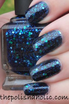 Deborah Lippman Across The Universe--I am not a big nail polish fanatic, but I saw this and had to have it. I've never worn blue polish either so this was a bit out of my comfort zone. I LOVE IT!