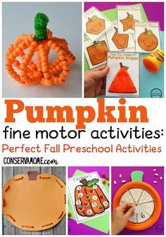 Superstars Which Are Helping Individuals Overseas Check Out These Great Pumpkin Fine Motor Activities To Help Your Little One Develop Their Fine Motor Skills Using Some Fun Pumpkin Fine Motor Activities. These Are Perfect Fall Toddler Activities. Fall Preschool Activities, Art Activities For Toddlers, Thanksgiving Preschool, Motor Activities, Preschool Crafts, Preschool Age, Sensory Activities, Therapy Activities, Fall Crafts For Kids