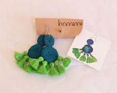 Double Disc Crochet Tassel Earrings by HamimiMarrakech on Etsy
