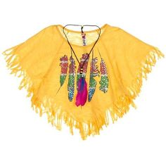 Beautees 7-16 Fringe Tribal Poncho Top YELLOW Md 10/12From #Beautees Price: $12.00 Availability: Usually ships in 1-2 business daysShips From #and sold by Bealls Florida