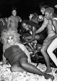Ron Galella, Divine and Grace Jones at Studio 54