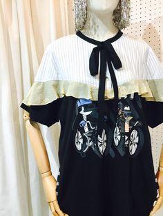 SRITALA : 2BIKER BOW DRESS#remakeclothes #ream #sritala #changchui #changchuibkk #bangkok #thailand#dresses