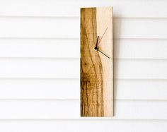 Salvaged Wood Wall Clock  good DIY project with whatever material you prefer.