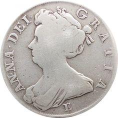 1708 Half Crown Queen Anne Silver Coin British United Kingdom minted in Edinburgh, Scotland in British Coins > Early Milled British Coins Old British Coins, Coin Art, Edinburgh Scotland, Queen Anne, Silver Coins, United Kingdom, Mint, Crown, Silver Quarters