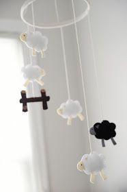 Adorable sheep mobile! // Rust & Sunshine blog