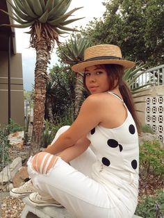 #fashion #howtostyle #polkadot #hat