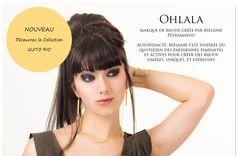 Ohlala, marque de bijoux créée par mélanie Peyramayou.  Découvrez la collection QUETA RIO