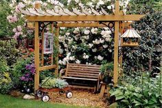 "Pergolas can give the garden a traditional look, while ready-made kits and shading materials such as tinted fiberglass make DIY easier than ever. 2005, ""Pergolas and the Like for the Backyard""   - PopularMechanics.com"