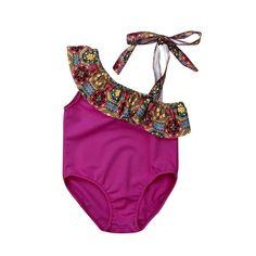 Newborn Kid Baby Girl Striped Tankini Bikini Swimwear Swimsuit Bathing Suit 0-5Y