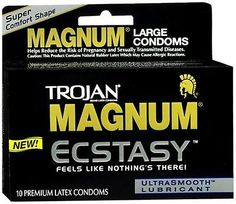 Condoms and Contraceptives: Trojan Magnum Ecstasy Condoms Ultrasmooth Lubricant Large Size 10 Each (9 Pack) BUY IT NOW ONLY: $70.65