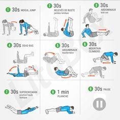 Exercices sans matériel pour les abdominaux #344 (avec