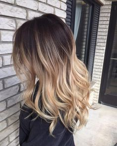 Blonde Balayage Ombre on Brown Hair