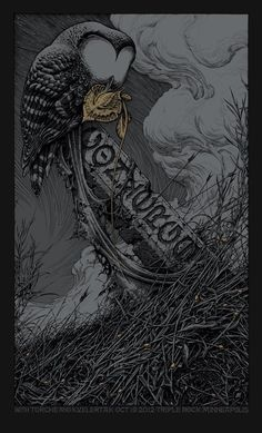 Converge by Aaron Horkey. Good gracious that's beautiful.