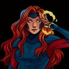 Marvel Women, Marvel Girls, Comics Girls, Marvel Fan Art, Marvel Dc Comics, Marvel Comic Character, Marvel Characters, Jean Grey Xmen, Spiderman Girl
