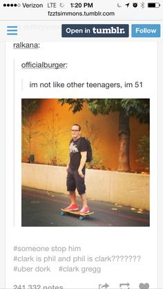 COULSON. That is all. Clark Gregg is the best.  <<< I think this is going to be me in 25 more years....