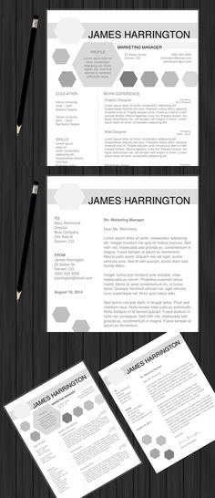 Professional Resume \ Cover Letter Professional resume, Resume - resume cover letter word template