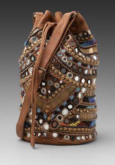 Antik Batik Orelia Bucket Bag in Camel