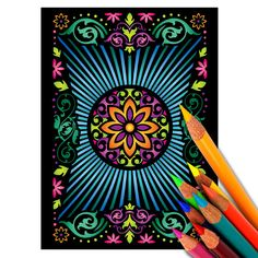 Coloring Page of Intricately Patterned Playing by BowWowCreative