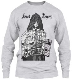 Sound Reaperz Ash Grey Long Sleeve T-Shirt Front