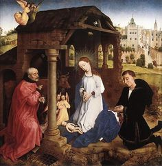 """This is in """"The Foundation"""" because the history of Christianity, in all its permutations, is relevant to me.:Pierre Bladelin Triptych central panel by Rogier van der Weyden"""