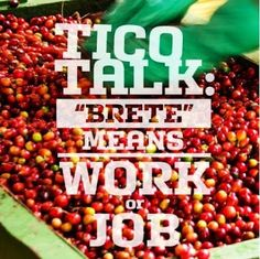 Tico Talk Brete Means Work Or Job